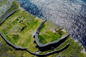Aran Islands Aerial View